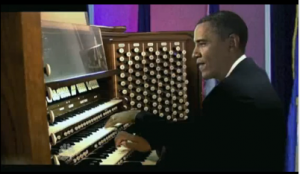 President Obama Plays The Organ